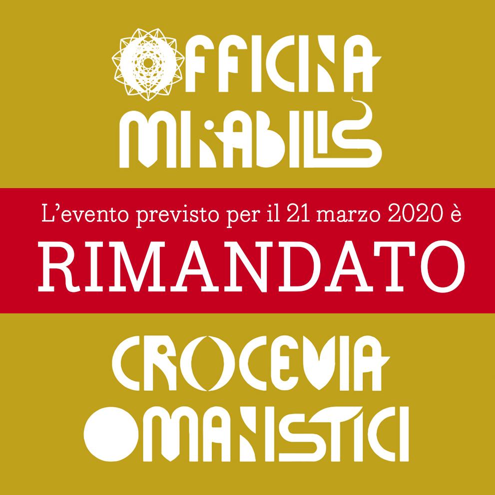 Evento del 21 marzo 2020 RIMANDATO