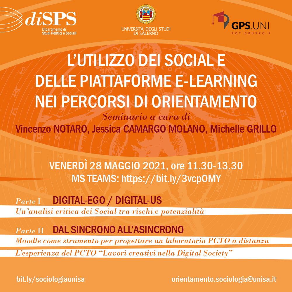 diSPS/UNISA: Digital-Ego/Digital-Us, seminario di Vincenzo Notaro